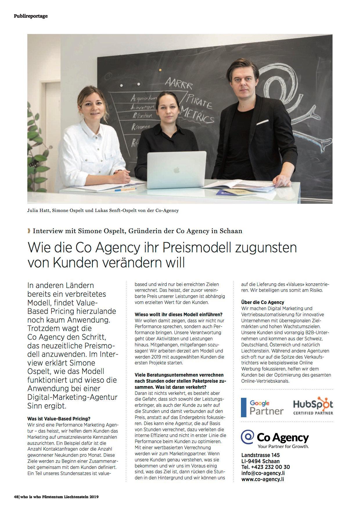 co agency liechtenstein